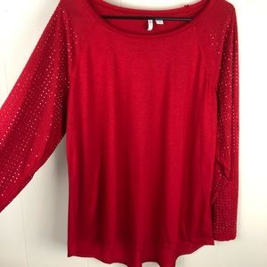 Red Cato long sleeve studded top plus size 18 20